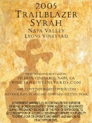 SOLD OUT!  2005 Trailblazer Napa Valley Syrah