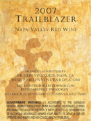 SOLD OUT!  2007 Napa Valley Trailblazer Red $23